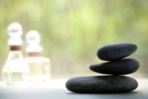 hot stone massage with essential oils